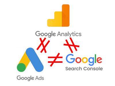 Analytics Search Console Google広告の数値は一致しない。