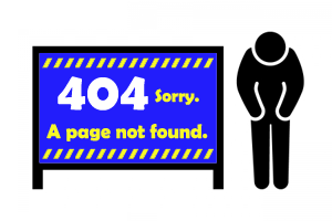 404 A page not found イメージ